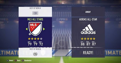 FIFA 18, MLS, Adidas, All Stars Team, Menu Image