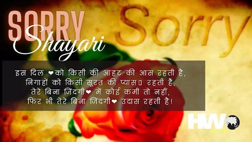 Sorry Shayari   Sorry Shayari for Friends