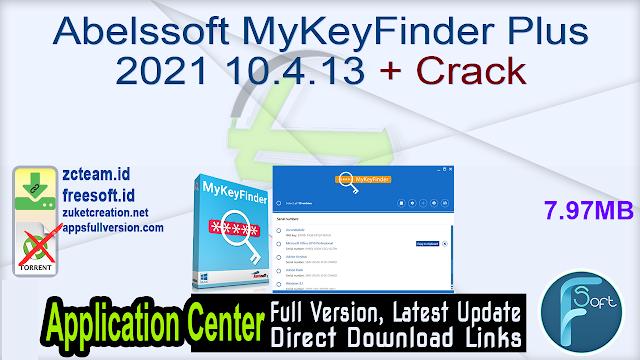 Abelssoft MyKeyFinder Plus 2021 10.4.13 + Crack_ ZcTeam.id
