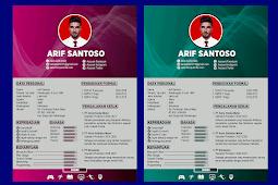 Contoh CV Lamaran Kerja Yang Baik dan Kreatif - Design #35