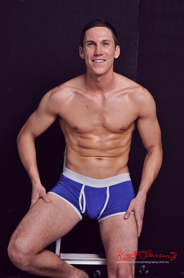 Modelling men's underwear; studio modelling portfolio by Kent Johnson.