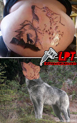 Tattoo FAIL - Lobo aullando