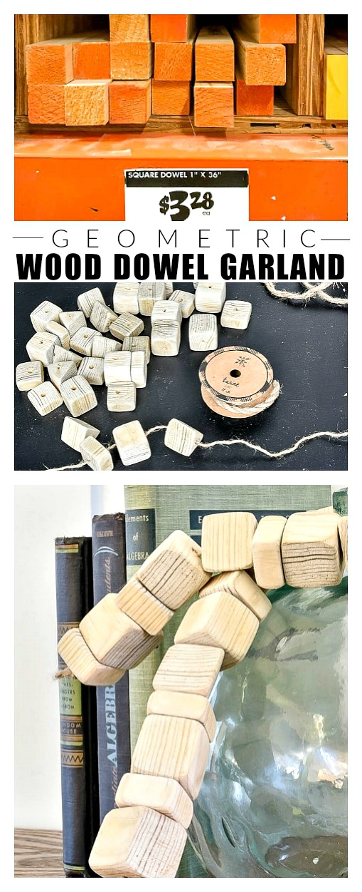 How to make a wood bead garland out of square dowels