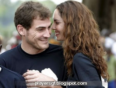 Casillas and his girlfriend Sara Carbonero