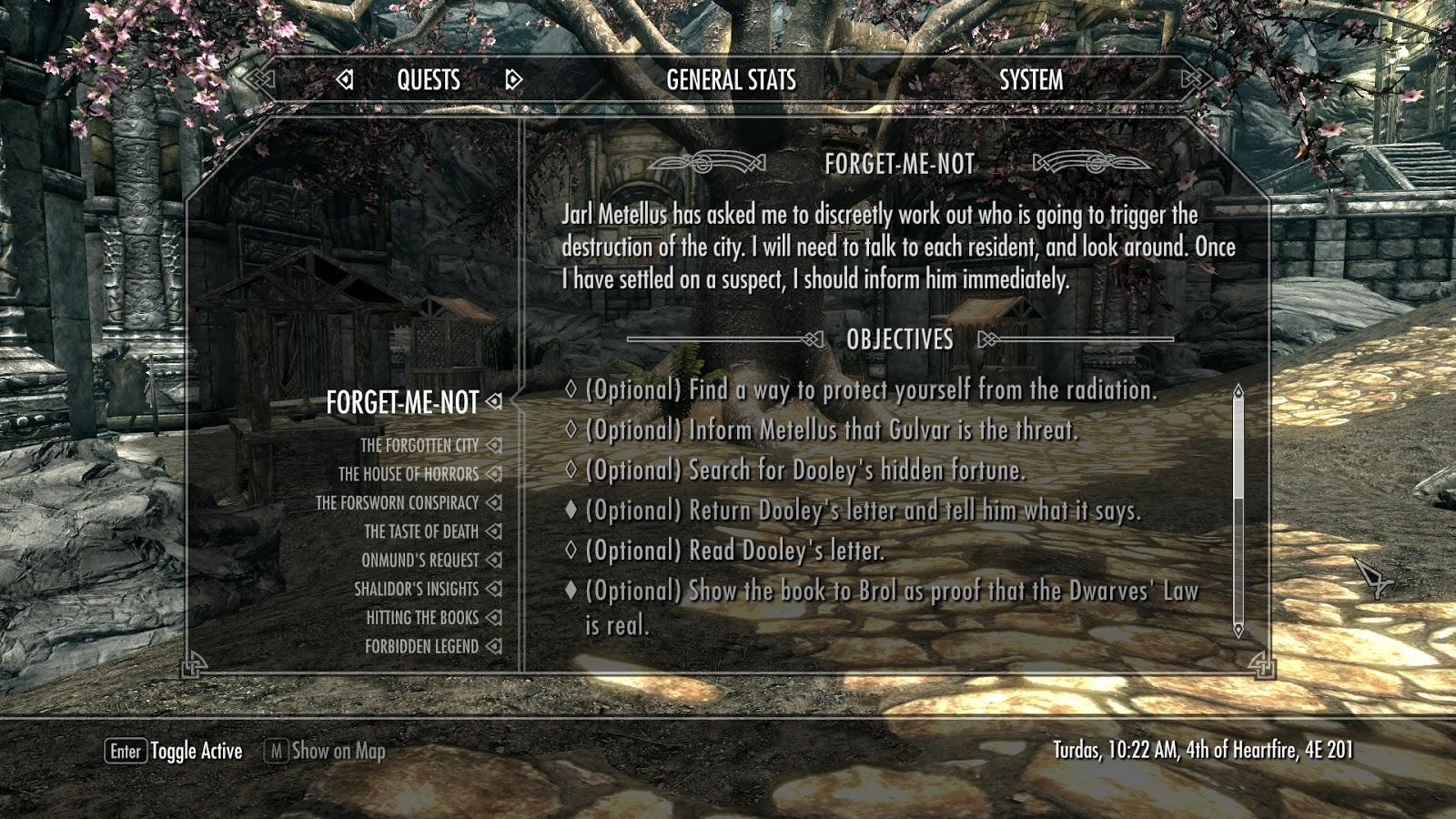 Radiator Blog: The Forgotten City (Skyrim mod) as dense quest
