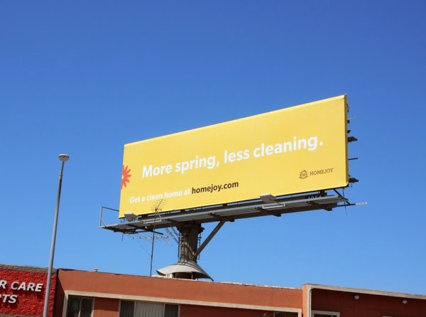 Homejoy More Spring less cleaning billboard