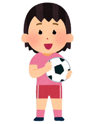 サッカー少女のイラスト