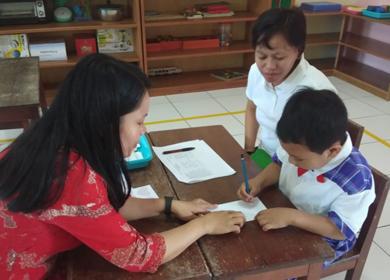 Komunikasi 3 Arah TK Kristen Kalam Kudus Timika