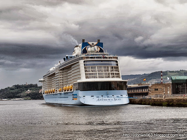 fotos de barcos, imagenes de barcos, anthem of the seas, vigo, royal caribbean