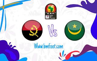 لعبة موريتانيا انغولا مباشر
