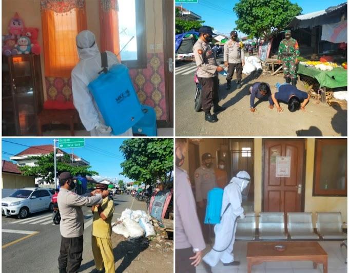 Pelayanan PKM Kempo Ditutup, Satgas Covid-19 Kempo, Gencar Razia Masker Hingga Semprot Desinfektan