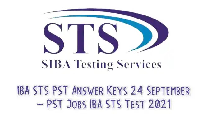 IBA STS PST Answer Keys 24 September – PST Jobs IBA STS Test 2021