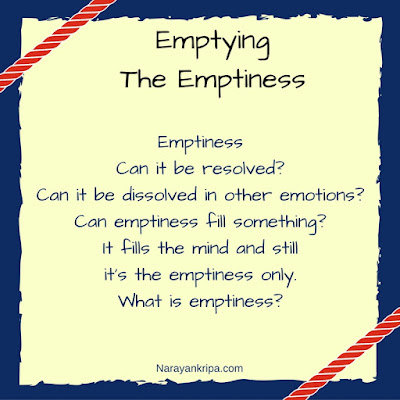 Text Image for the poem: Emptying The Emptiness