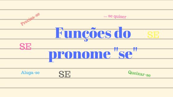 """Quando o pronome """"se"""" tem a função de Partícula apassivadora a frase está na voz passiva sintética, ou seja com verbo transitivo direto na terceira pessoa"""