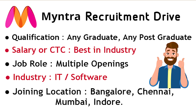 Myntra Recruitment Drive 2020 Apply Now