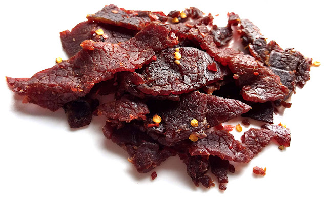 crushed chili pepper beef jerky