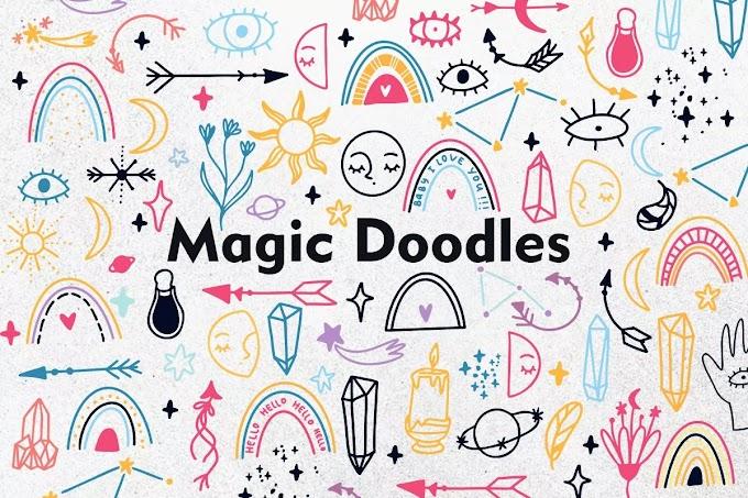 Hand Drawn Magic Doodle Vector
