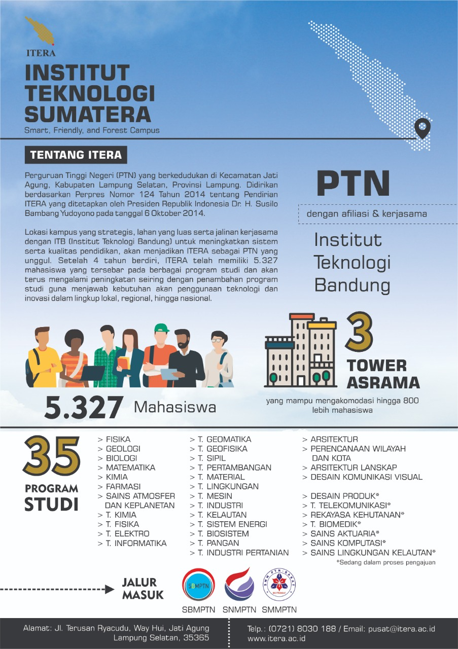 PMB Institut Teknologi Sumatera (ITERA) 2019