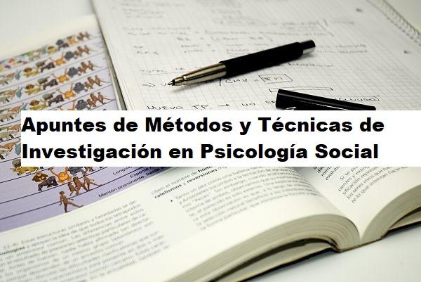 Métodos y Técnicas de Investigación en Psicología Social. PDF
