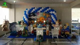 Decoração de aniversário Fundo do Mar - Festa infantil