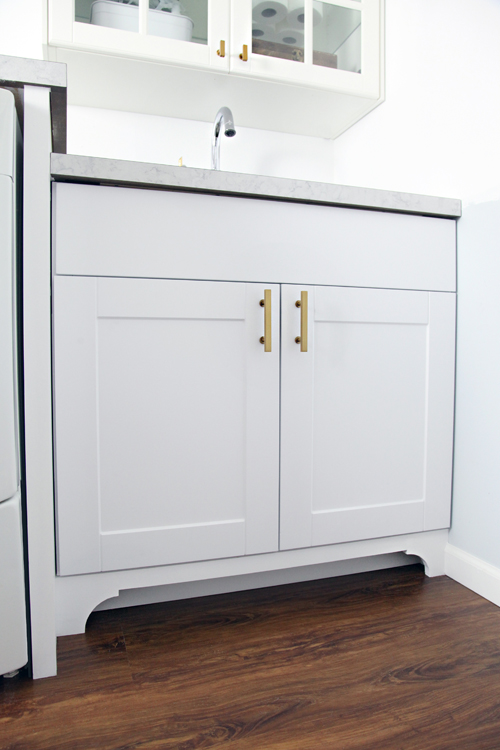toe kick for kitchen cabinets laundry room update a quot toe quot tally fantastic base cabinet 8543