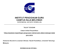 Download Jurnal Pendidikan Jasmani Dan Kesehatan Di Malaysia – Tahap Kesedaran Kepentingan Pengurusan Makmal Sains Dalam Kalangan Bakal Guru Sains