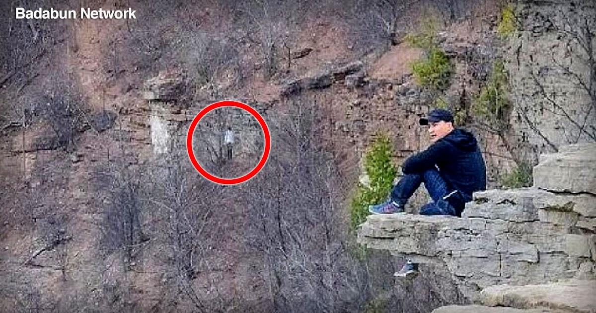aparición fantasma misterio paranormal silueta captada en fotografía Dundas Peak