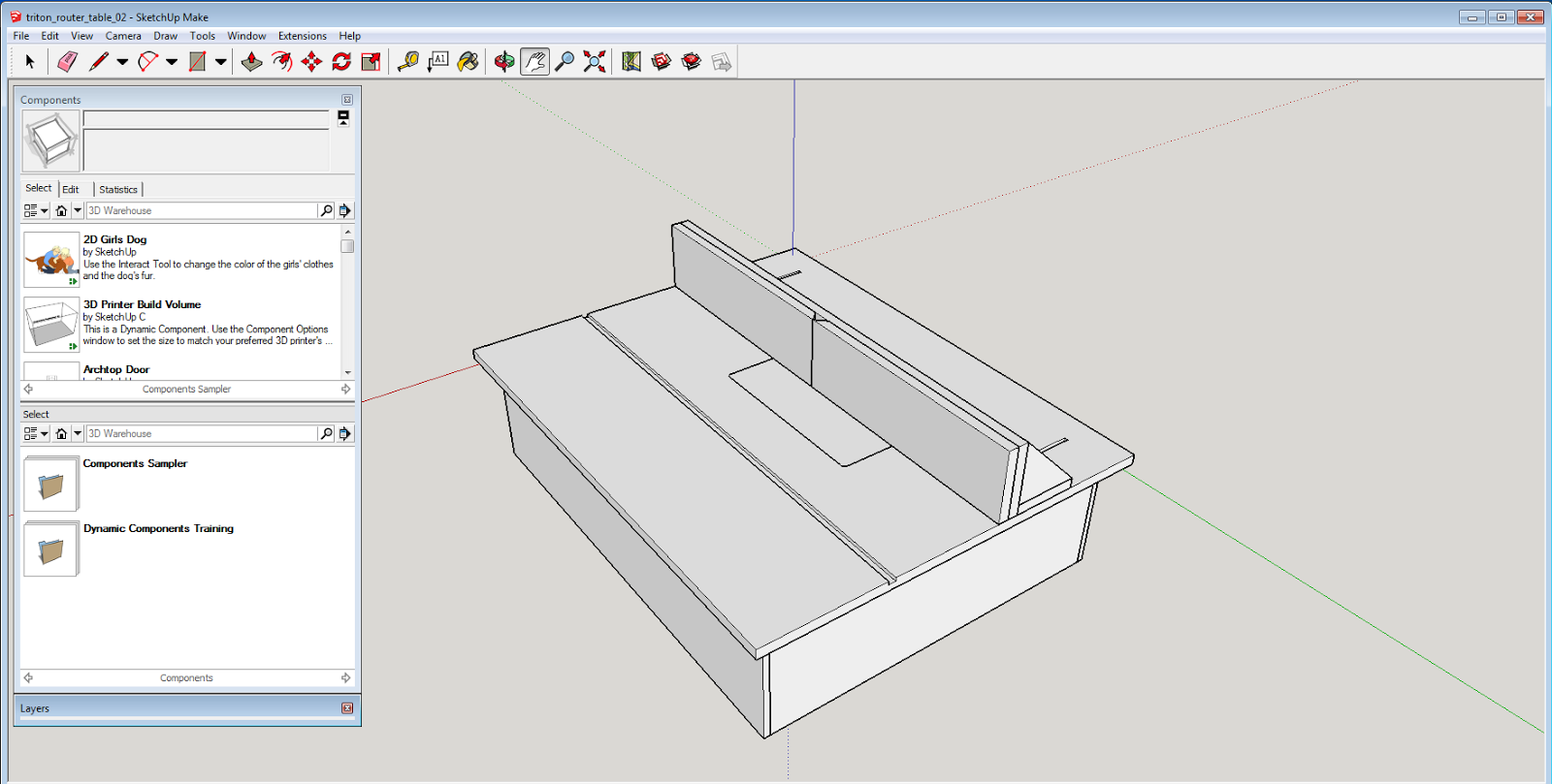 Incomplete attention span march 2015 for Table design sketchup