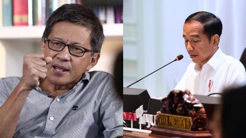 Karangan Bunga Soal Munarman Ditangkap Penuhi Mabes Polri, Rocky Gerung: Jokowi Jadikan Bangsa Ini Terpecah Belah!