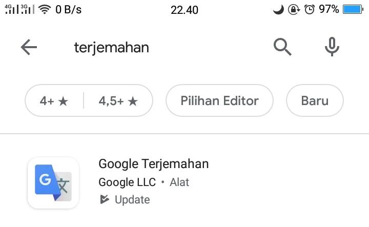 Google terjemanahan media pembelajaran