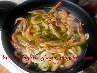 Γαρίδες αχνιστές με σκόρδο - από «Τα φαγητά της γιαγιάς»