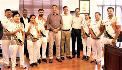 DG CISF felicitated CISF sports personnel