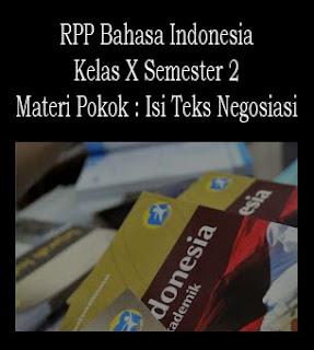 RPP Bahasa Indonesia Kelas X Semester 2