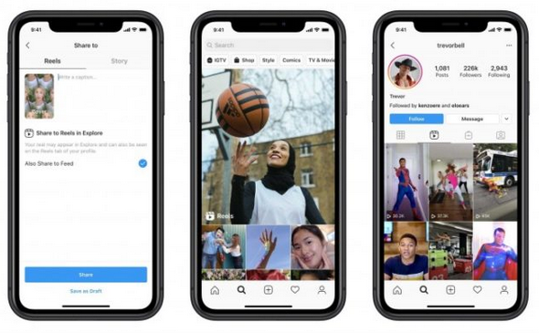 Instagram Launches Reels, to Take on TikTok
