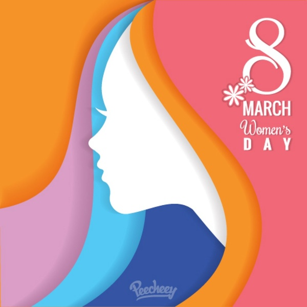 Colorful womens day background Free vector