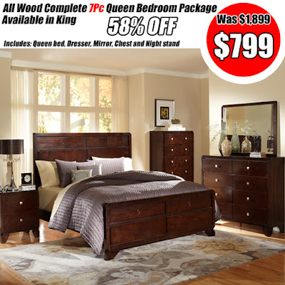 top setting cherry bedroom set