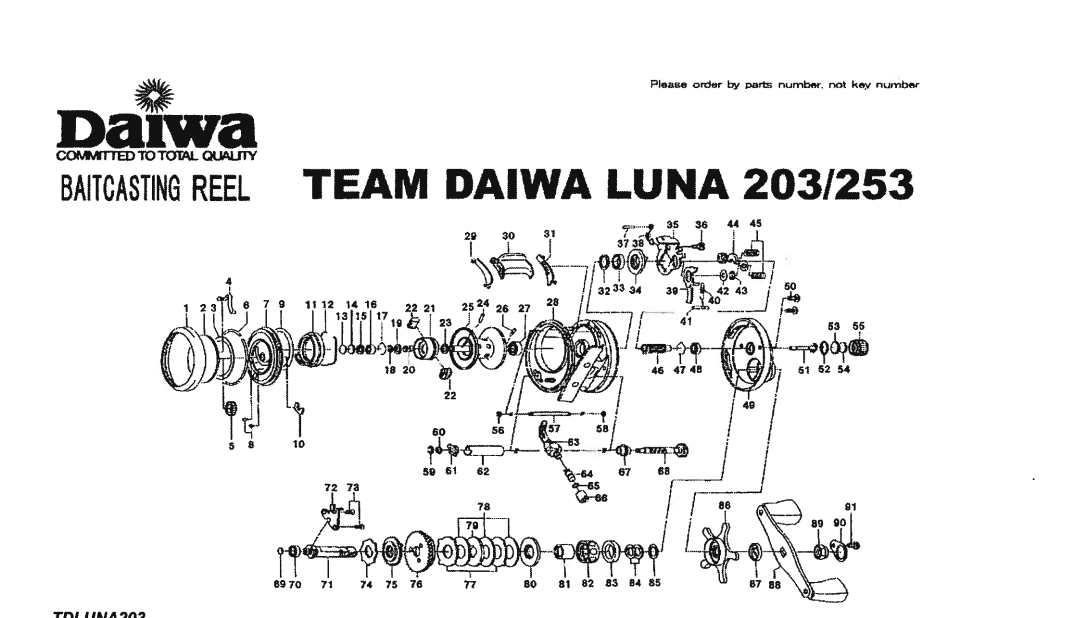 Team Daiwa Luna 103 203 253 300 Schematics Most Complete