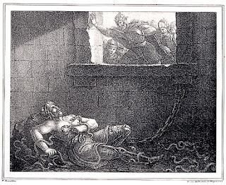 Muerte Ragnar Lodbrok en el pozo de las serpientes