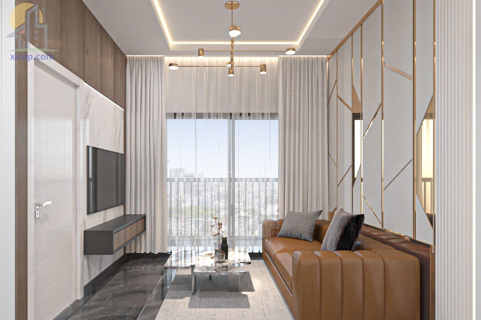 Nội thất phòng khách hiện đại mẫu đẹp sang trọng cho chung cư 2