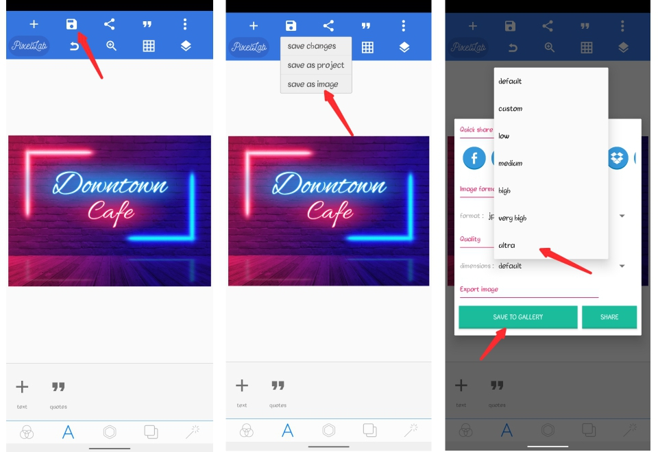 Pixellab Neon Text Effect On Android Phone   Smartphone Editing Concept