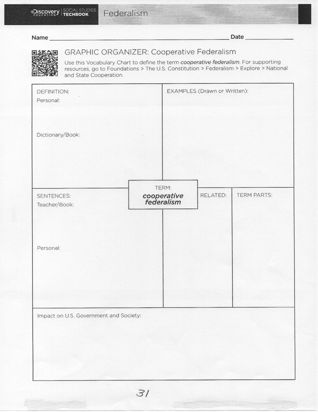 Coach Green S Class Unit 5 Worksheets Federalism