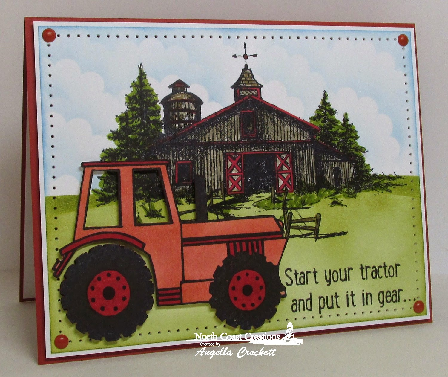 North Coast Creations Barn Single and I Dig You, Card Designer Angie Crockett