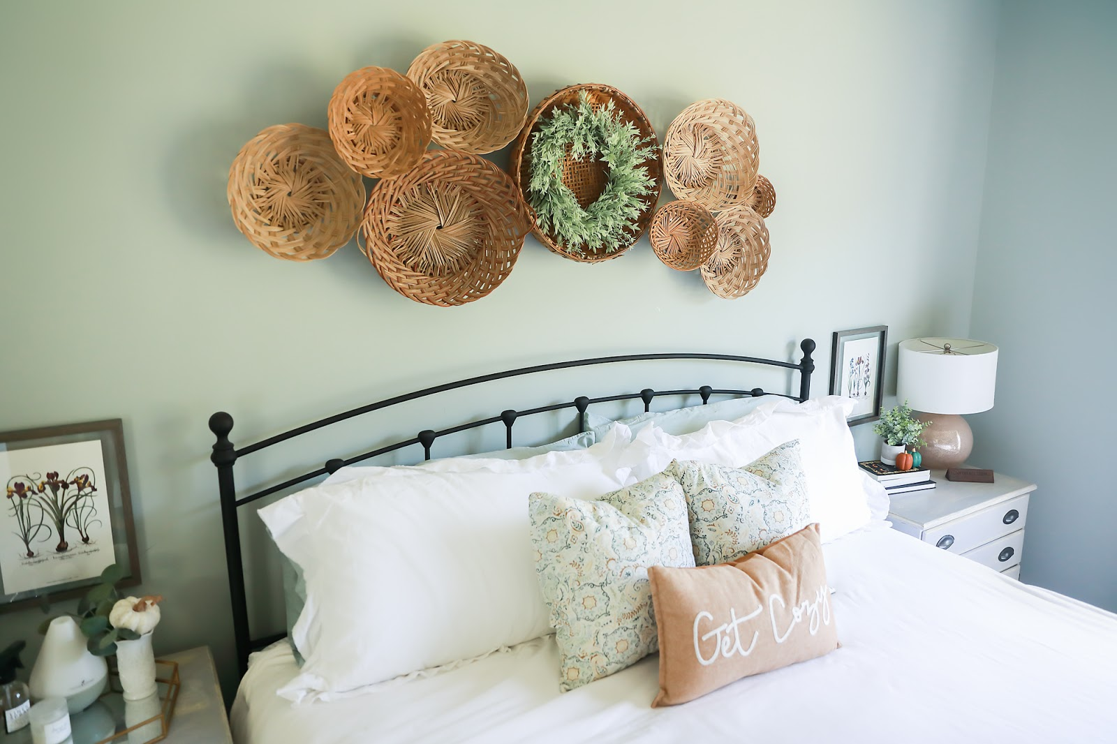 How to create a basket wall.