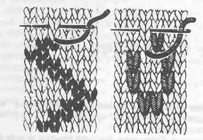 вышивка петельным стежком