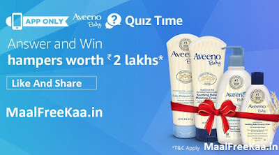 Aveeno Baby Quiz Time Answer And Win Hampers Worth Rs 2 Lakh