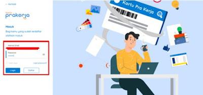 daftar akun kartu pra kerja online