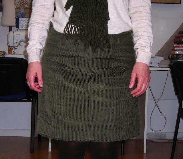 Trabajos de las alumnas de la clase de costura