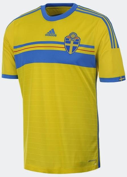 183816e222 Adidas apresenta o novo uniforme titular da Suécia. A Suécia apresentou sua nova  camisa ...