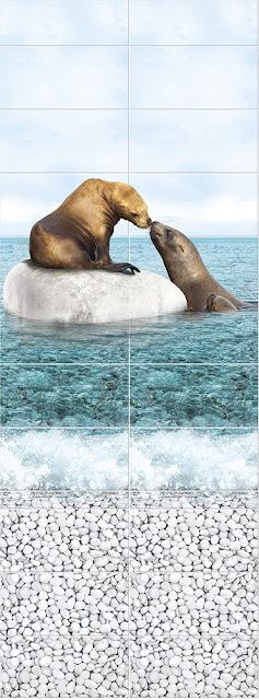 Море Панно Тюлени