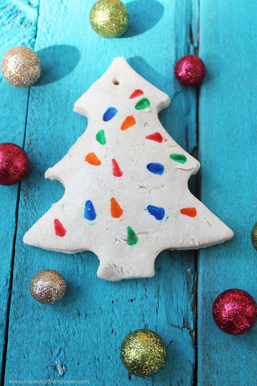 Salt dough ornament Christmas craft for kids